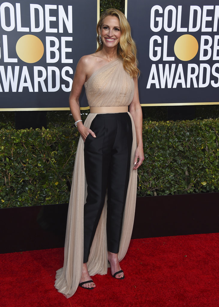 Julia Roberts arrives at the 76th annual Golden Globe Awards at the Beverly Hilton Hotel on Sunday, January 6, 2019, in Beverly Hills, California. (Photo by Jordan Strauss/Invision/AP)