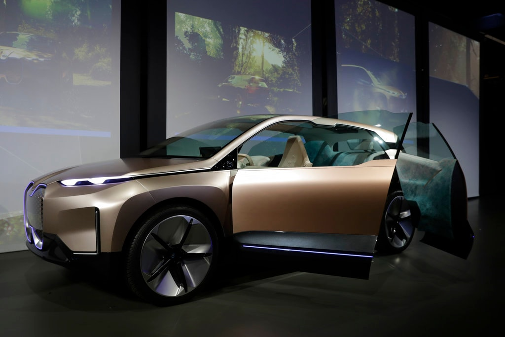 In this Nov. 28, 2018, file photo the BMW Vision iNEXT concept car is shown during the Los Angeles Auto Show in Los Angeles. Inside, it features something BMW calls