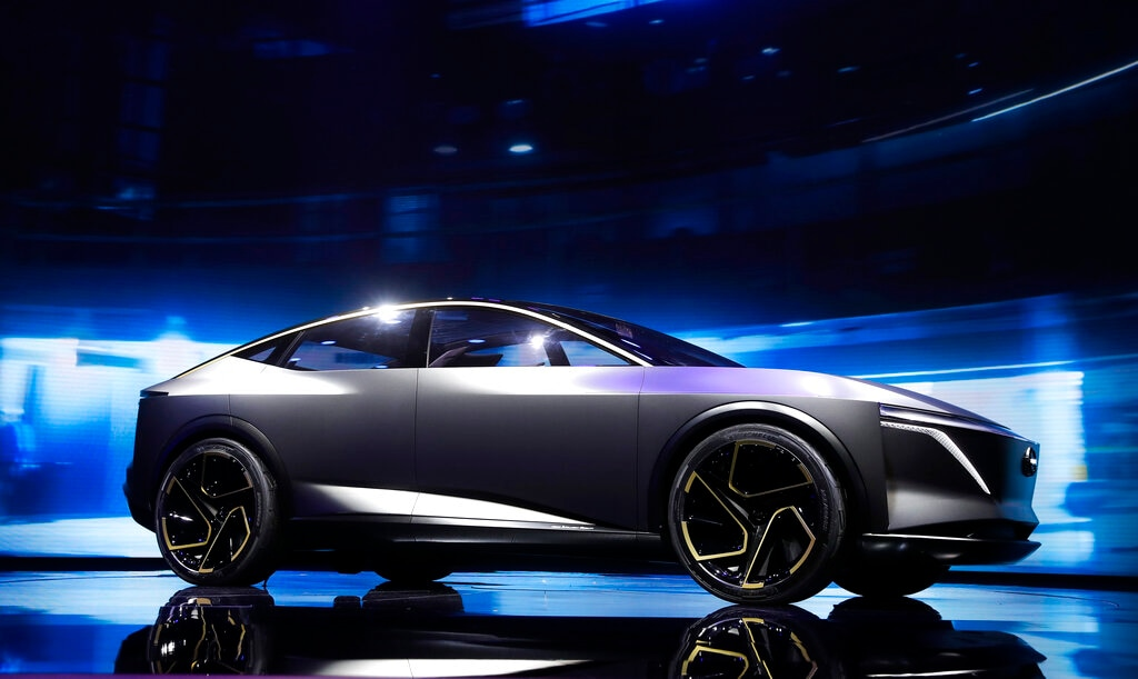 The Nissan IMs Concept debuts during media previews for the North American International Auto Show in Detroit, Monday, January 14, 2019. (AP Photo/Paul Sancya)