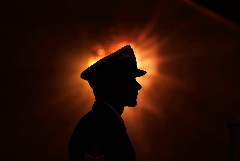 In this Thursday, January 9, 2015 photo, a Libyan honor guard stands at attention during the arrival of UN Special Envoy to Libya Bernardino Leon in Tripoli.  (AP Photo/Mohamed Ben Khalifa, File)