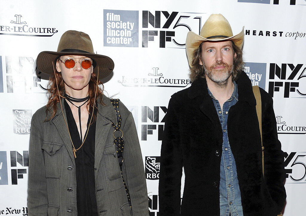 In this September 28, 2013 file photo, musicians Gillian Welch and David Rawlings attend the premiere of