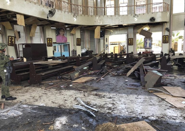 20 dead as bombs target Sunday Mass in Philippine cathedral
