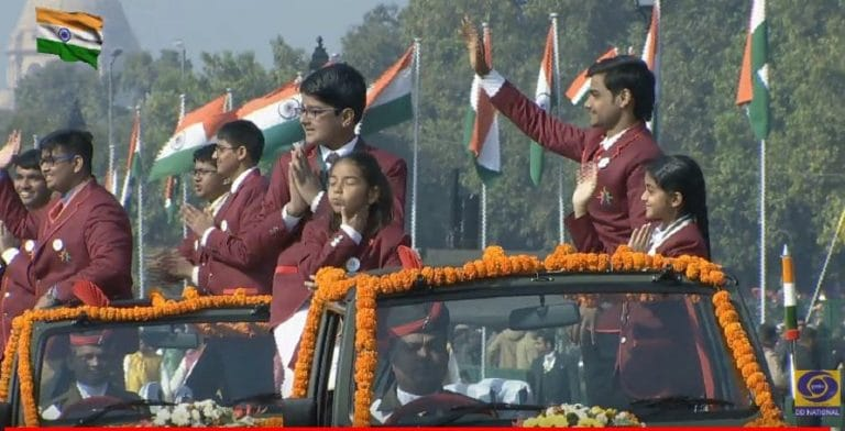 Republic Day 2019: Children conferred national awards all smiles at Republic Day parade