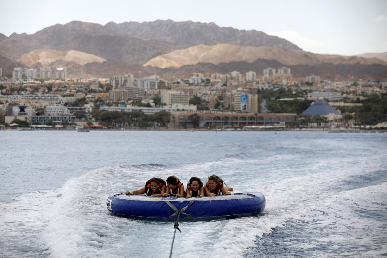 6. Eilat, Israel: Beneath the prismatic waters of this Red Sea resort on Israel's southern tip lies a coral reef with hundreds of varieties of neon fish, sharks and stingrays. The opening of the Ramon Airport, set in the dramatic Timna Valley and capable of handling four million international transit passengers a year, the world will finally get a direct route to reach this southern part of the country. (Source: The New York Times) (Image Source: Reuters)