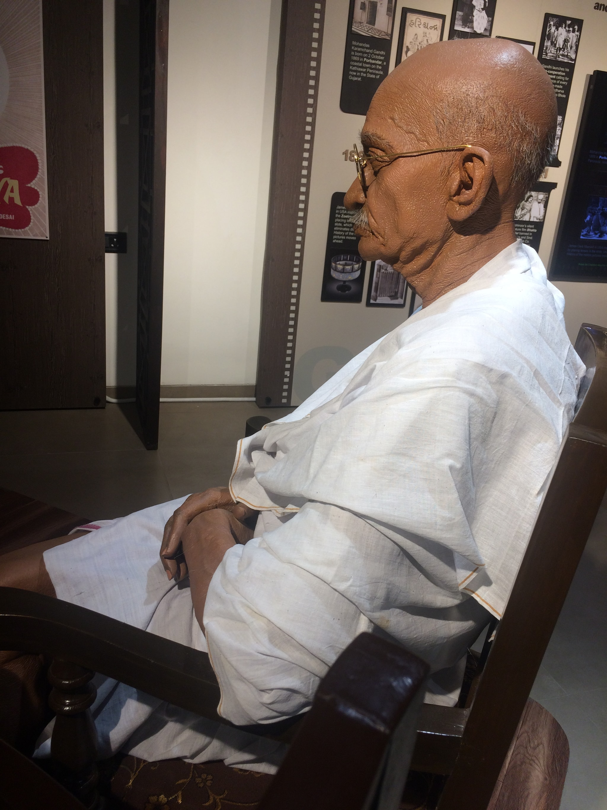 Gandhiji Watches Movies With Me