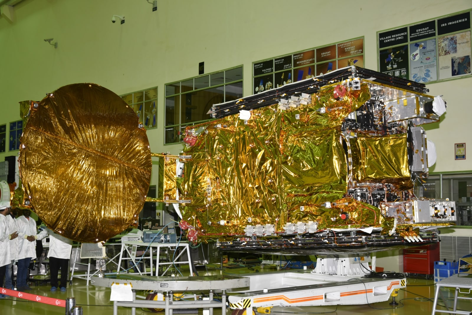 The satellite derives its heritage from ISRO's earlier INSAT/GSAT satellite series. The satellite provides Indian mainland and island coverage.