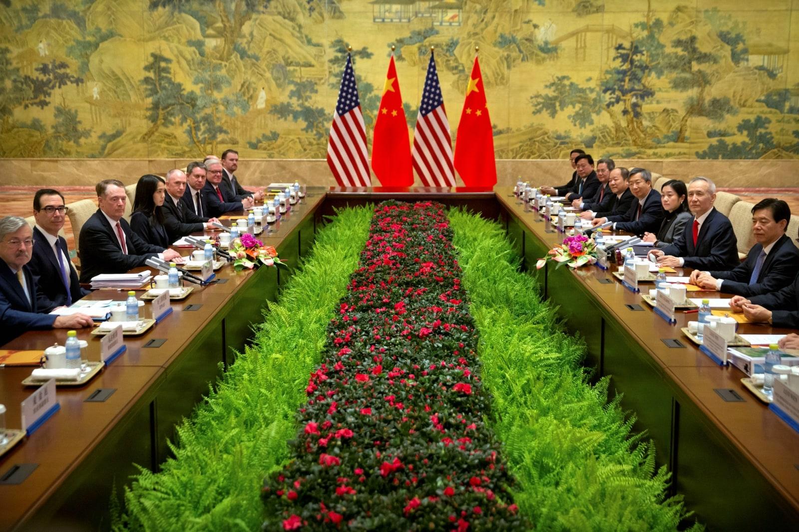 10. US-China Trade Talks: US officials are