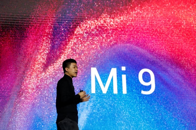 Xiaomi's Director of Product Management Donovan Sung presents the new Xiaomi Mi 9 mobile phone ahead of the Mobile World Congress (MWC 19) in Barcelona, Spain, February 24, 2019. (Reuters)