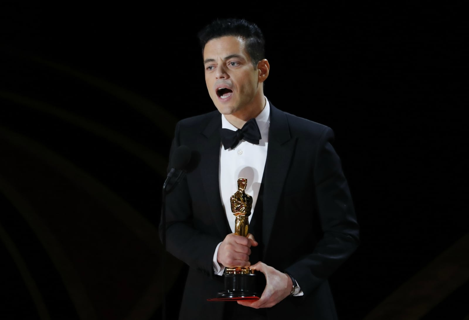 91st Academy Awards - Oscars Show - Hollywood, Los Angeles, California, US, February 24, 2019. Rami Malek accepts the Best Actor award for his role in