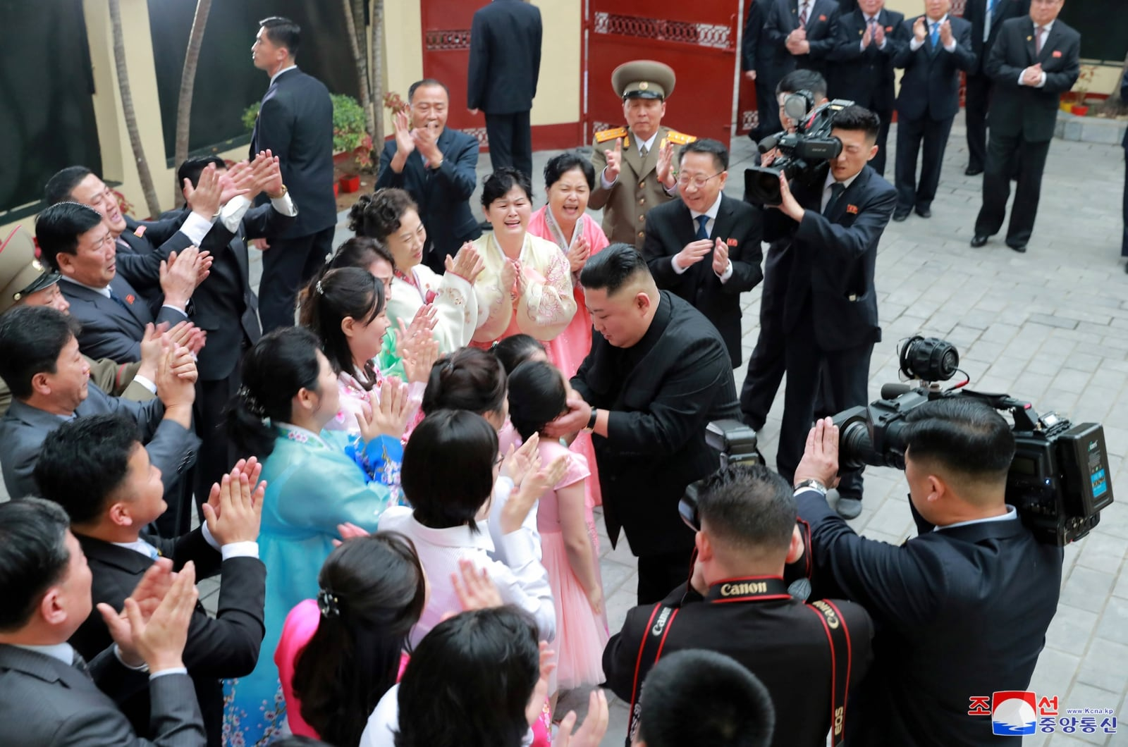 North Korea's leader Kim Jong Un visits the North Korean Embassy in Hanoi, Vietnam February 26, 2019 in this photo released by North Korea's Korean Central News Agency (KCNA). KCNA via REUTERS