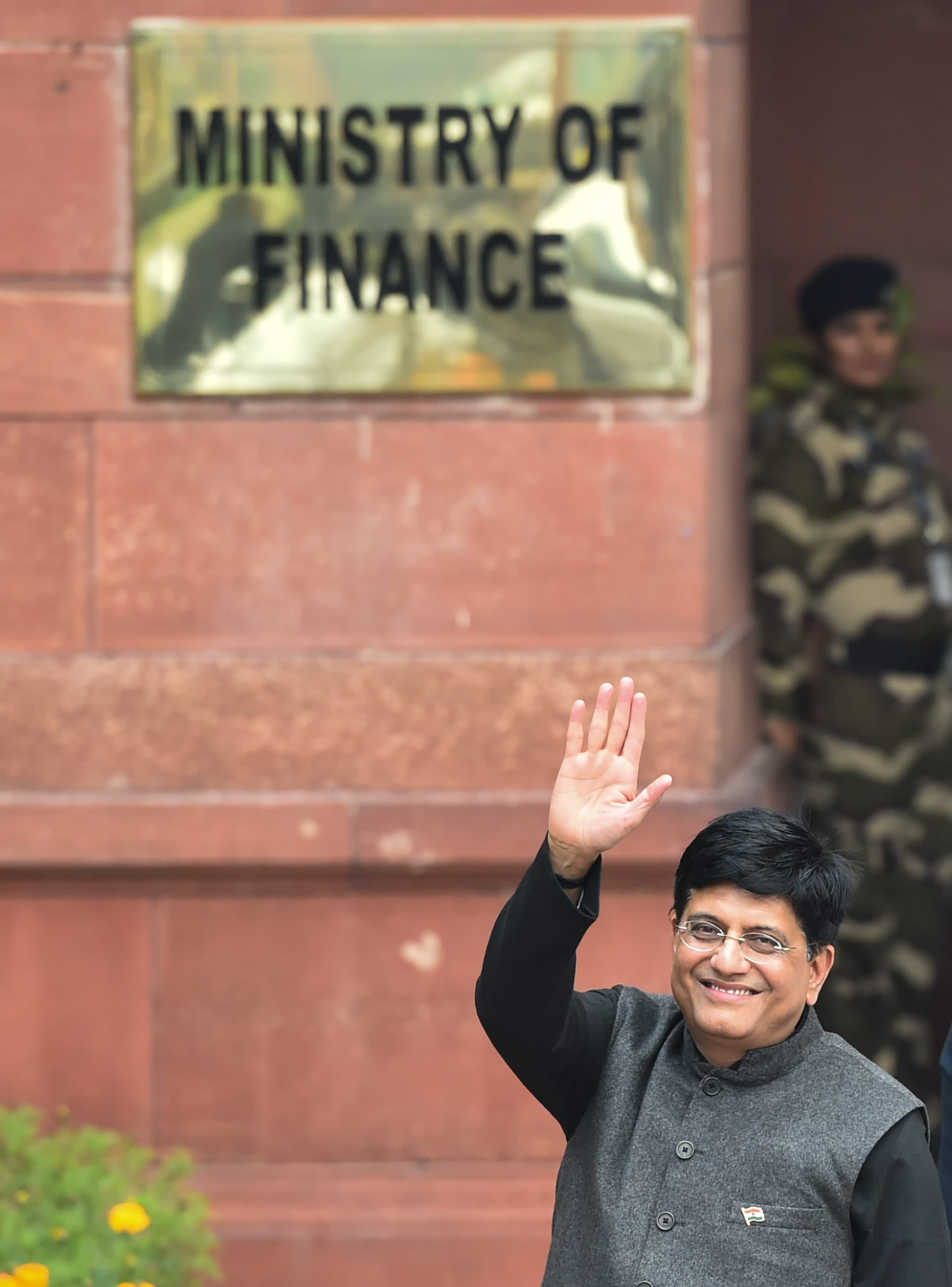 Union finance minister Piyush Goyal arrives at North Block to present the Union Budget at the Parliament, in New Delhi, Friday, February 1, 2019. (PTI Photo/ Arun Sharma)