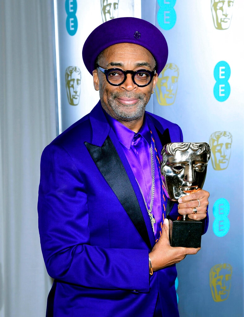 Spike Lee attends the after party for the 72nd British Academy Film Awards at the Grosvenor House Hotel in central London in Sunday, February 10, 2019. (AP)