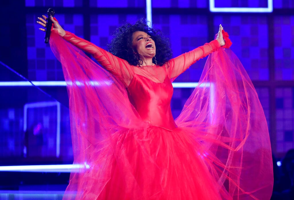 Diana Ross performs a medley at the 61st annual Grammy Awards on Sunday, February 10, 2019, in Los Angeles. (Photo by Matt Sayles/Invision/AP)