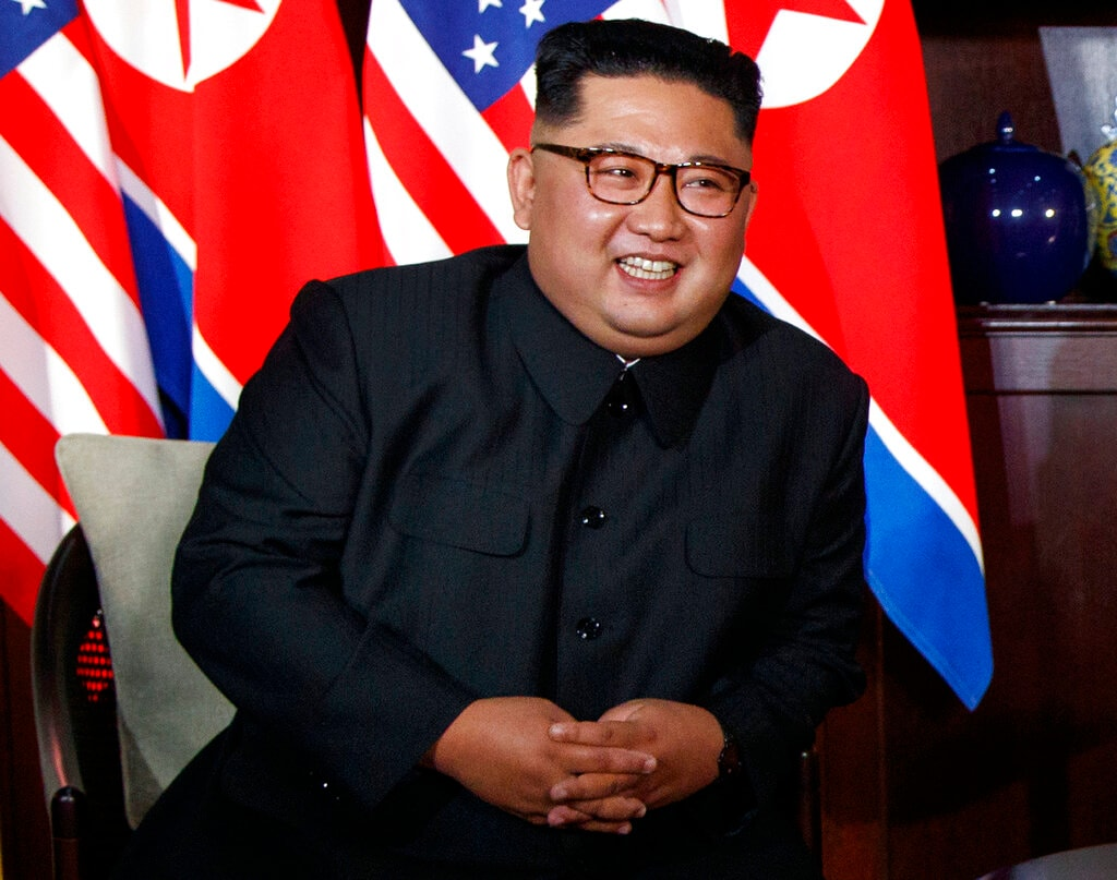 In this June 12, 2018, file photo, North Korean leader Kim Jong Un smiles as he meets with President Donald Trump on Sentosa Island, Tuesday, June 12, 2018, in Singapore. (AP Photo/Evan Vucci, File)