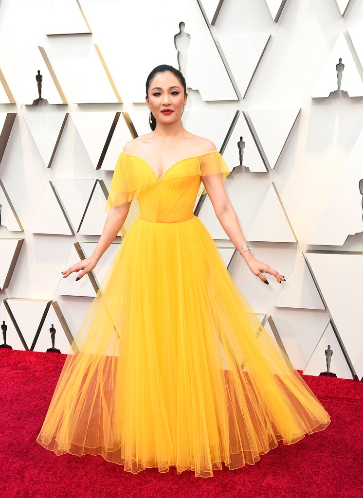 Constance Wu arrives at the Oscars on Sunday, February 24, 2019, at the Dolby Theatre in Los Angeles. (Photo by Jordan Strauss/Invision/AP)