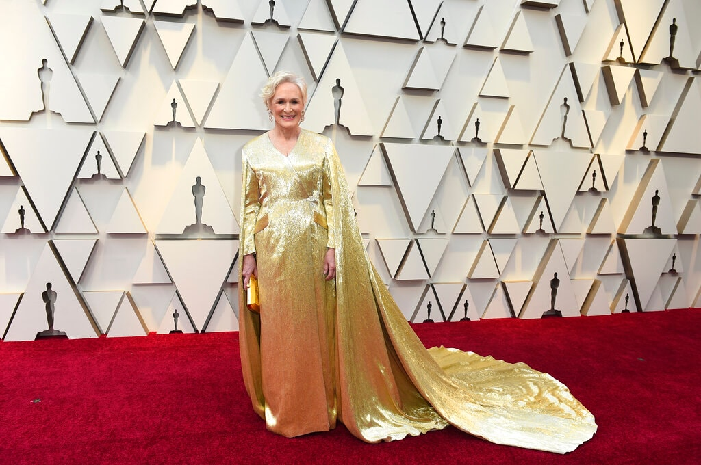 Glenn Close arrives at the Oscars on Sunday, February 24, 2019, at the Dolby Theatre in Los Angeles. (Photo by Jordan Strauss/Invision/AP)