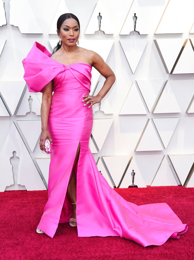 Angela Bassett arrives at the Oscars on Sunday, February 24, 2019, at the Dolby Theatre in Los Angeles. (Photo by Richard Shotwell/Invision/AP)