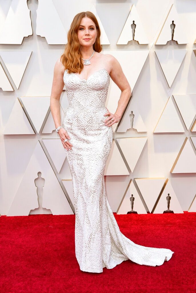 Amy Adams arrives at the Oscars on Sunday, February 24, 2019, at the Dolby Theatre in Los Angeles. (Photo by Richard Shotwell/Invision/AP)