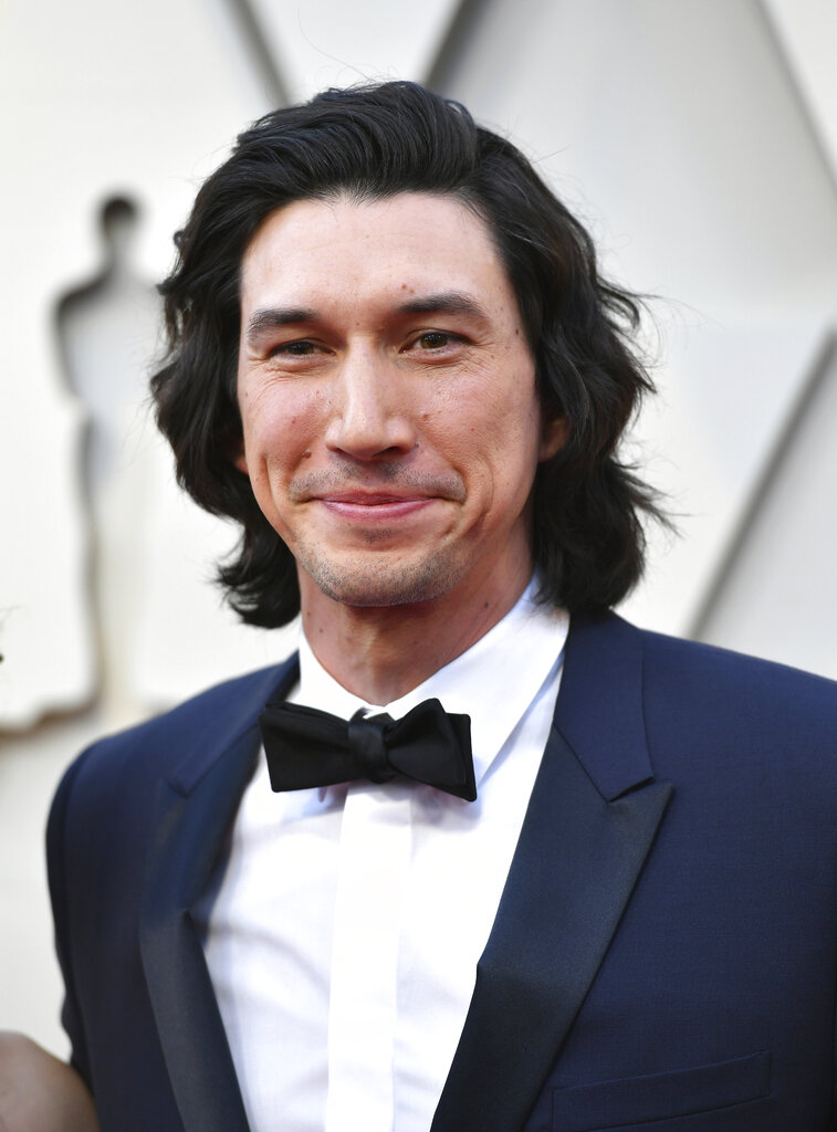 Adam Driver arrives at the Oscars on Sunday, February 24, 2019, at the Dolby Theatre in Los Angeles. (Photo by Jordan Strauss/Invision/AP)