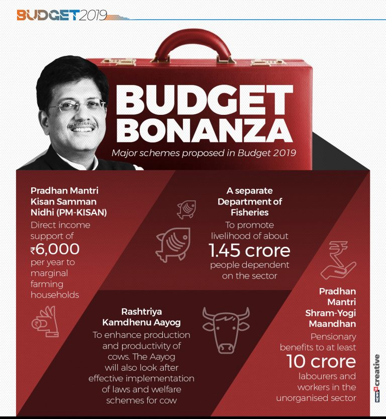 Major schemes proposed in 2019 interim budget