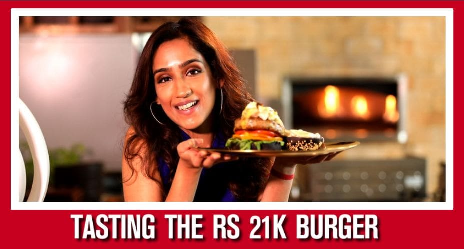 Believe it or not, here's a burger which costs Rs 21,000