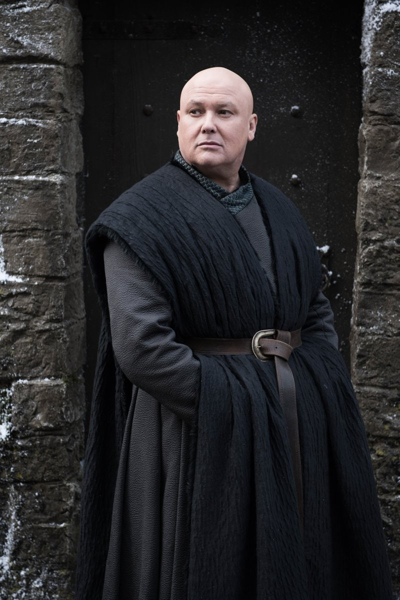 Conleth Hill (Lord Varys) has come far in the series for saying most of his contemporaries in season one, including Littlefinger and Grand Maester Pycelle, are long gone. But will he survive until the end? Since season one, Varys has always been dedicated to serving the realm, and has finally pledged his allegiance to Daenerys. But will he end up betraying her?