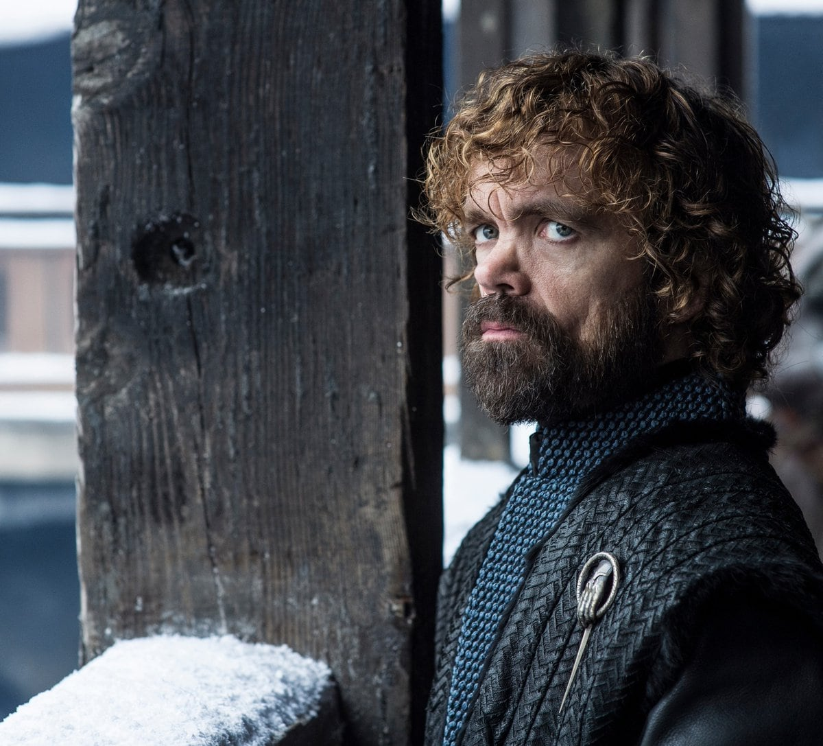 Tyrion Lannister (Peter Dinklage Tyrion) became Game of Thrones with the signature Lannister blonde hair – an important plot part which the writers upheld by bleaching his locks… in season one. His expression of dread is still the same though even in Season eight.