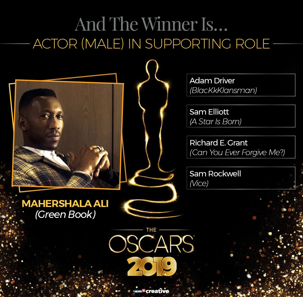 91st Academy Awards: Mahershala Ali is the winner of the Academy Award for best supporting actor. The win comes for his performance in