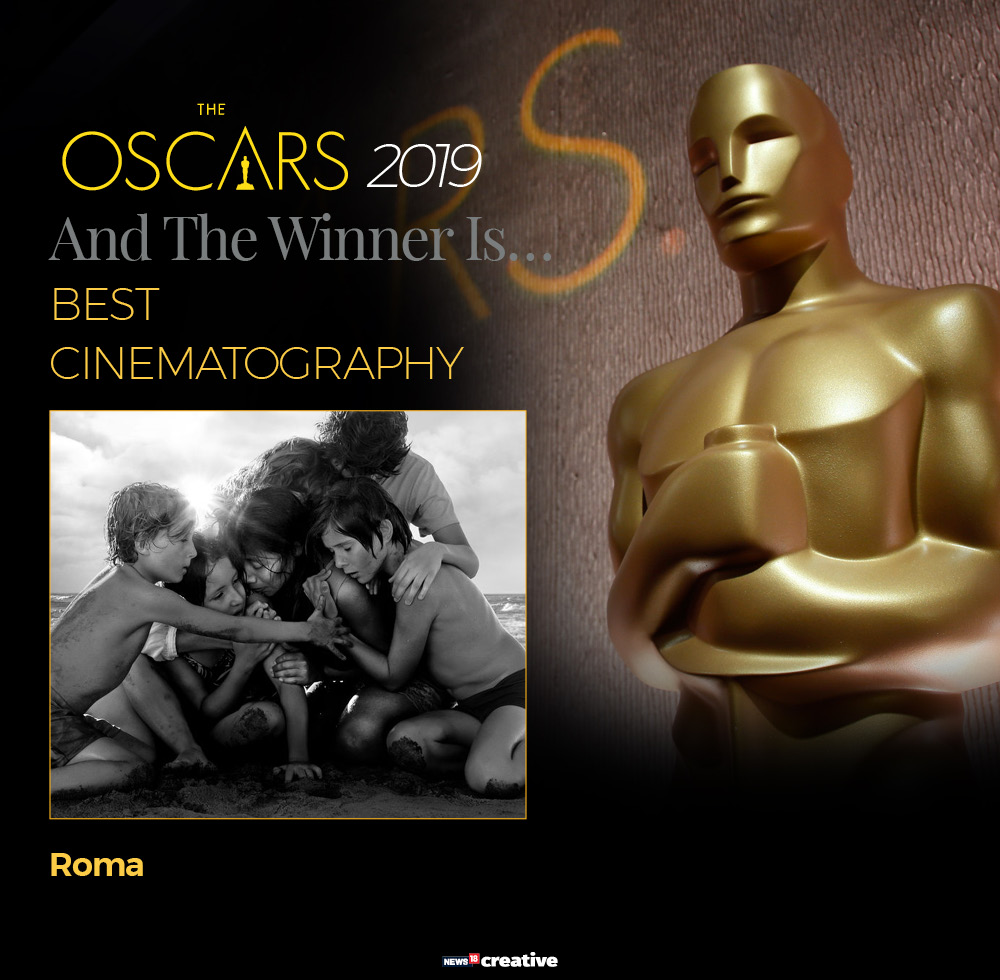91st Academy Awards: Alfonso Cuaron's Roma wins the best cinematography award. Cuaron won the best cinematography, becoming the first director to ever win for serving as his own director of photography.