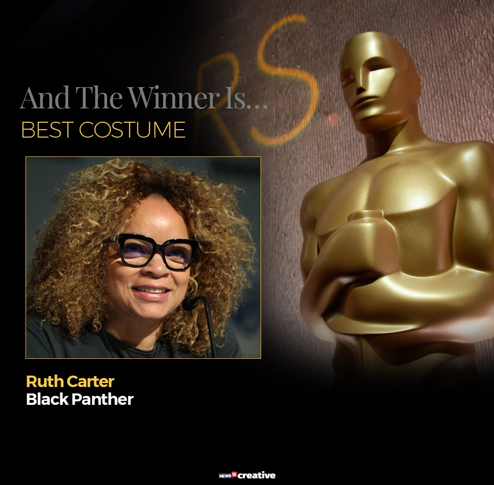 91st Academy Awards: Ruth E. Carter has won the Academy Award for costume design and made Oscar history. Carter is the first African-American costume designer to win the category. Carter has previously been nominated for her work on