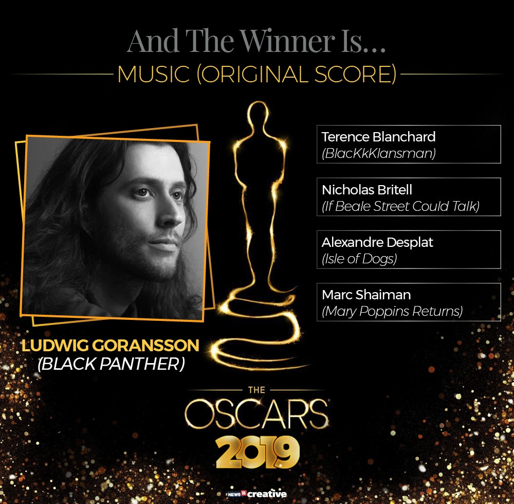 91st Academy Awards: Ludwig Goransson received the award from