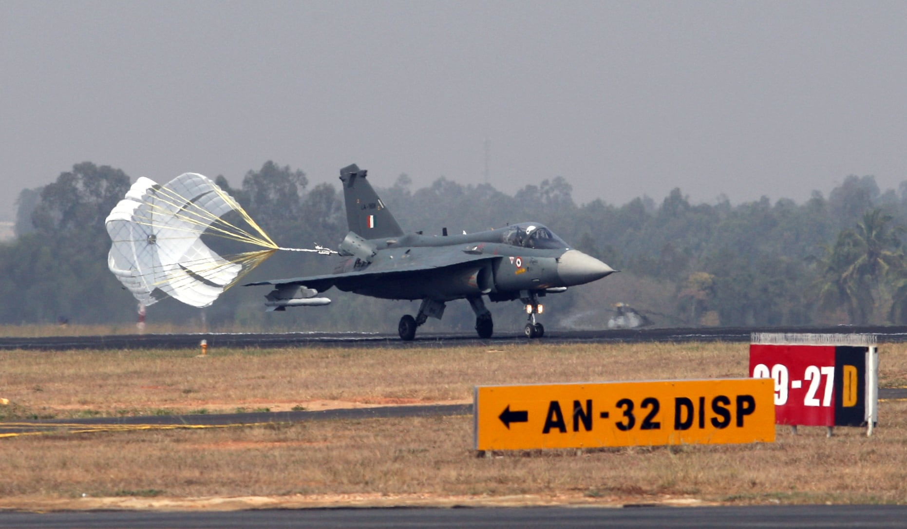 Rafale fighter aircraft is seen during the rehearsal of 12th edition of AERO India 2019, at Yelahanka Air Base, in Bengaluru.