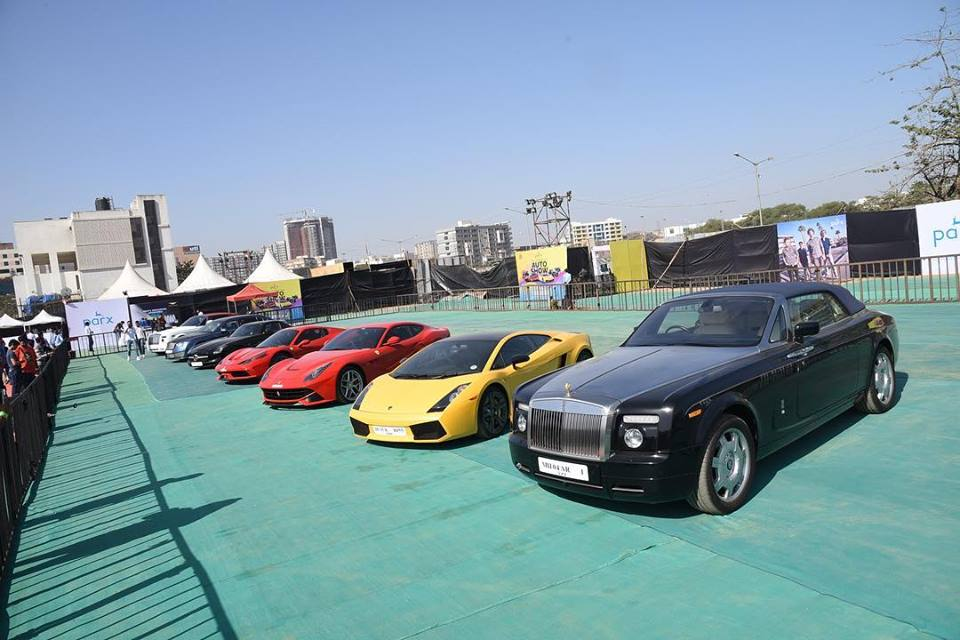 Luxury cars ranging from Lamborghini to Jaguar and Audi R8 were present at the event in Mumbai.
