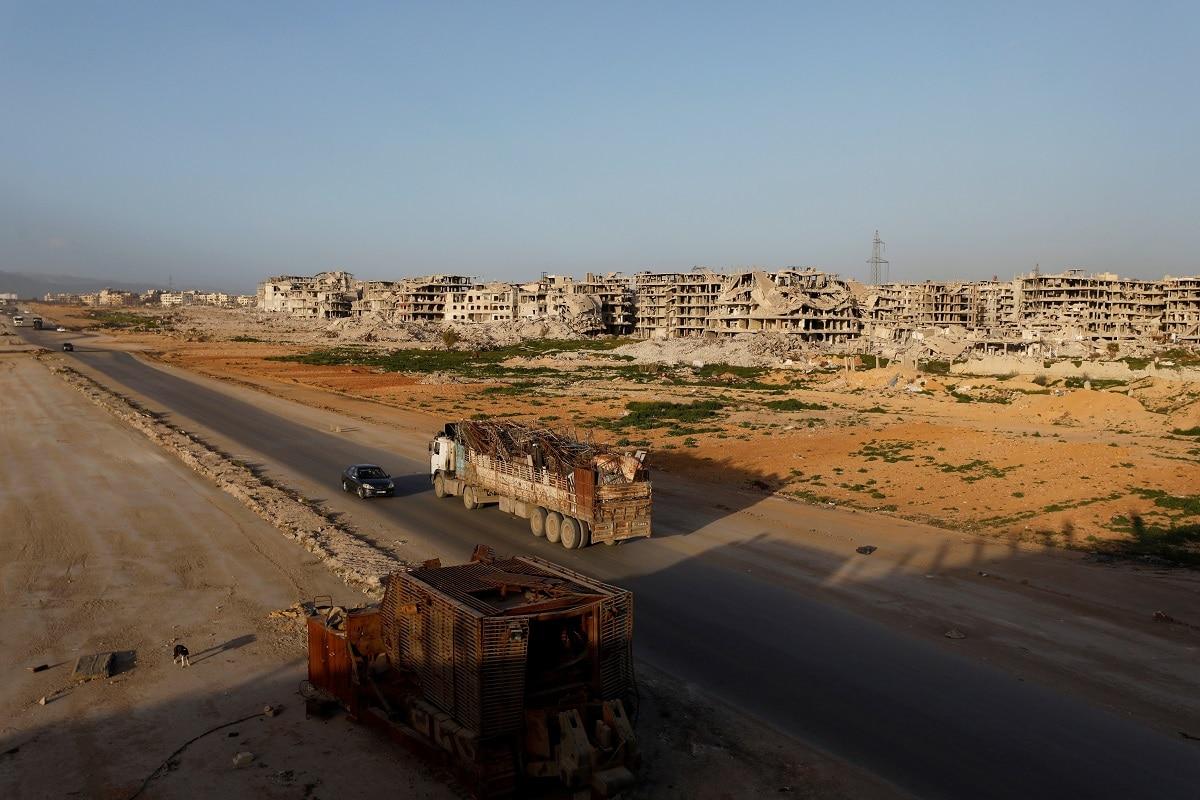 A general view of damaged buildings in Ein Terma. (REUTERS/Omar Sanadiki)
