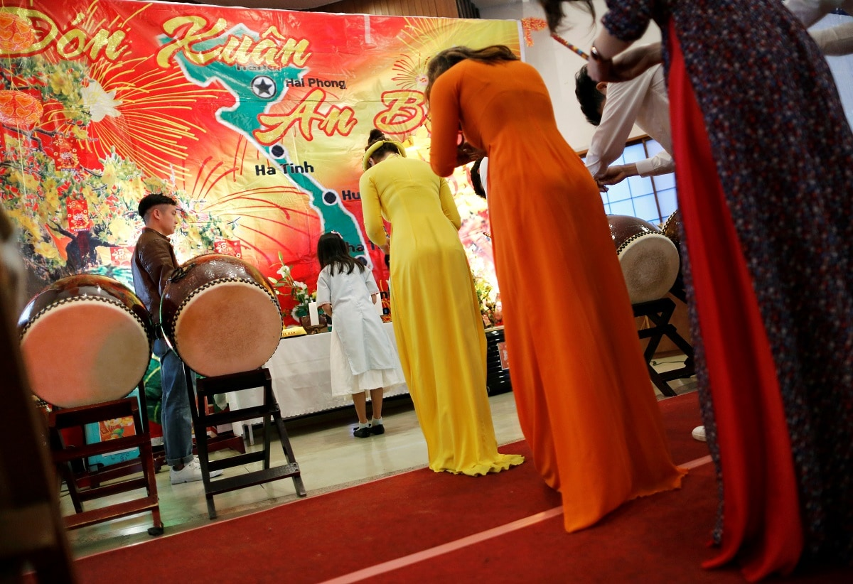 Vietnamese New Year celebration at a Catholic Church in Kawaguchi. (REUTERS/Issei Kato)