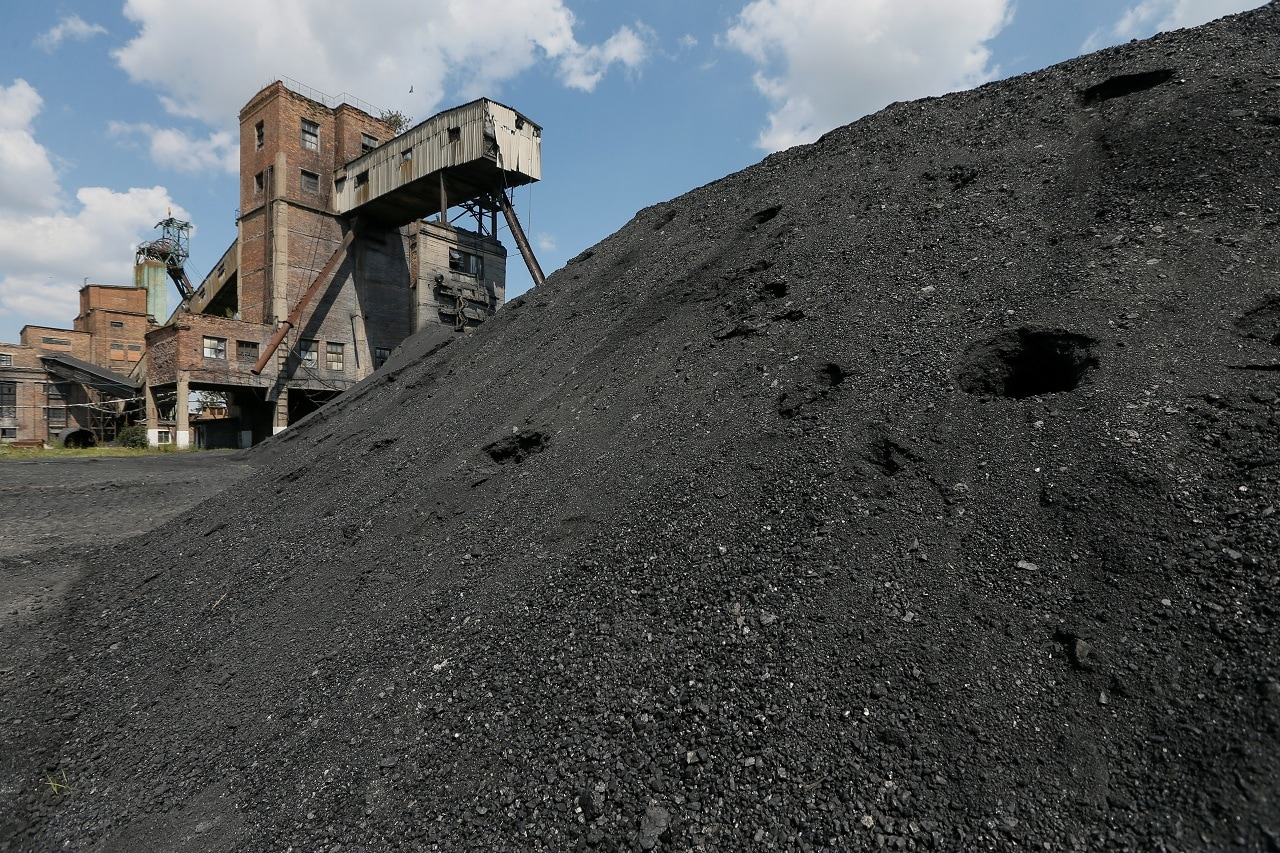 A general view shows the Novovolynska-9 coal mine in Novovolynsk, Ukraine August 2, 2018. Picture taken August 2, 2018. (Reuters)