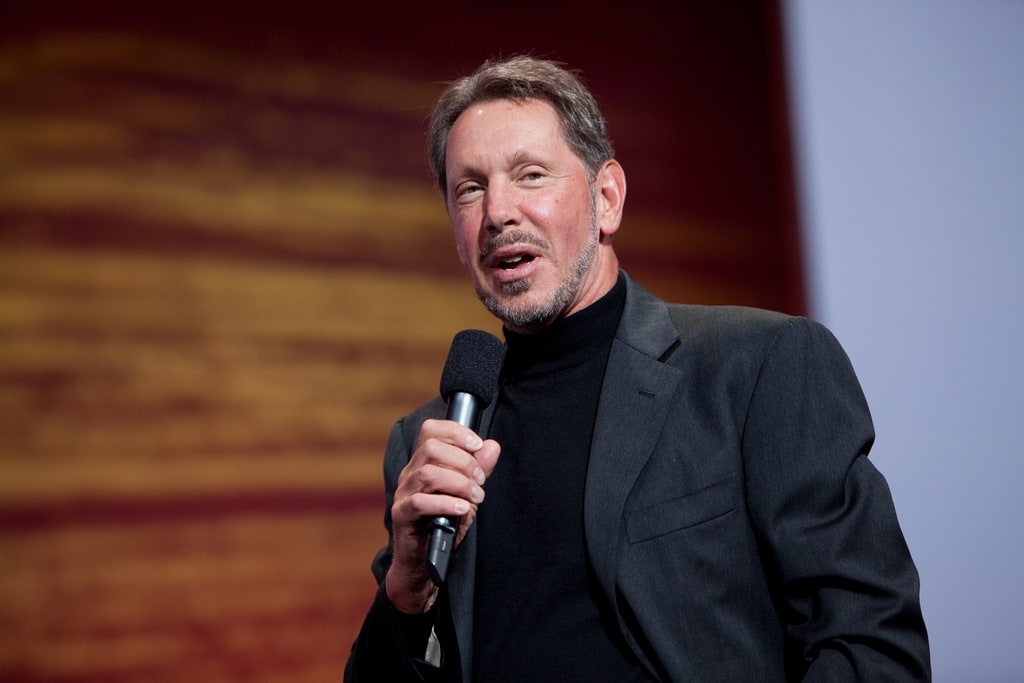 Larry Ellison: Net Worth: $63.8 billion. Larry Ellison cofounded software firm Oracle in 1977 to tap into the growing need for customer relationship management databases. He gave up the Oracle CEO role in 2014 but still serves as chairman of the board and chief technology officer.