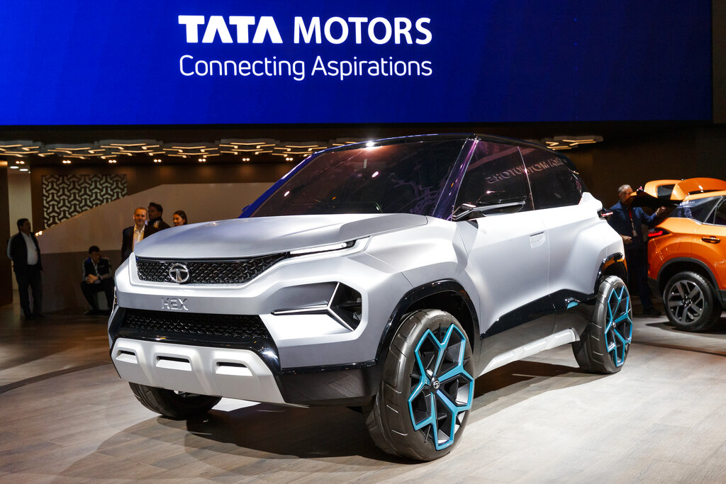 The new Tata Motors 'H2X' concept car is presented during the press day at the '89th Geneva International Motor Show' in Geneva, Switzerland, Tuesday, March 05, 2019. (Cyril Zingaro/Keystone via AP)