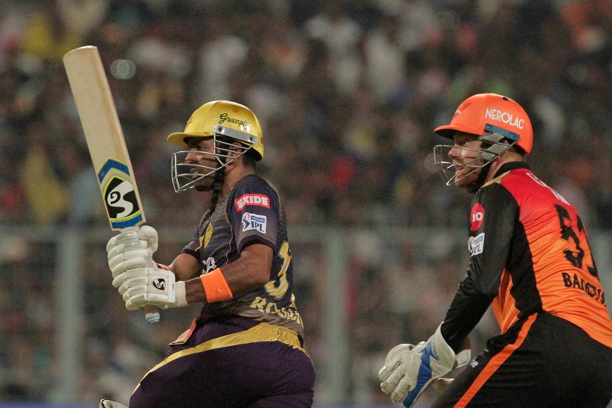 Kolkata Knight Riders' Robin Uthappa bats against Sunrisers Hyderabad. (AP Photo/Bikas Das)