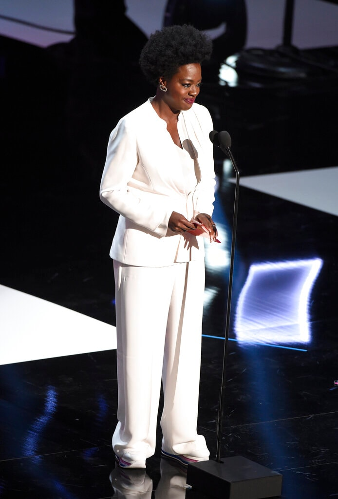 Viola Davis presents the award for entertainer of the year at the 50th annual NAACP Image Awards on Saturday, March 30, 2019, at the Dolby Theatre in Los Angeles. (Photo by Chris Pizzello/Invision/AP).