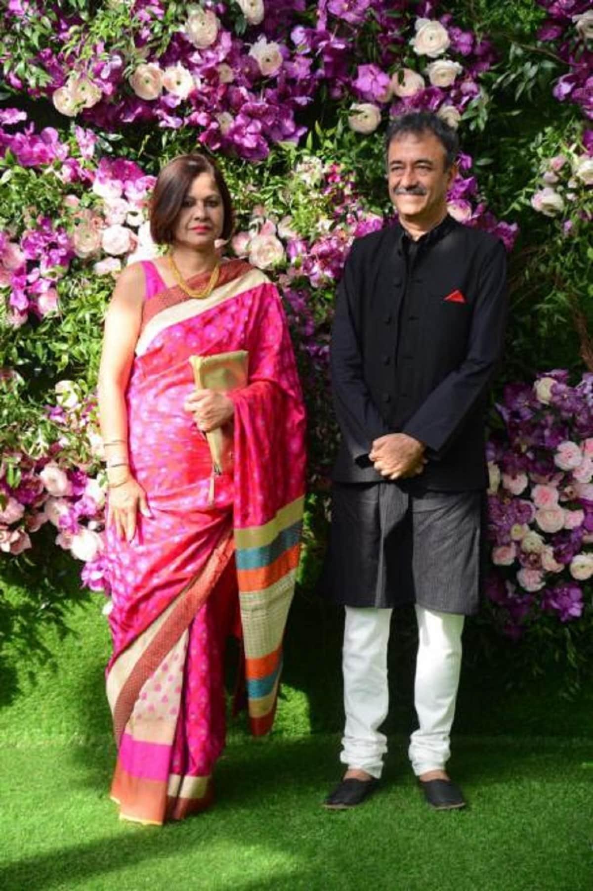 Filmmaker Raju Hirani with his wife. (Image: Viral Bhayani)