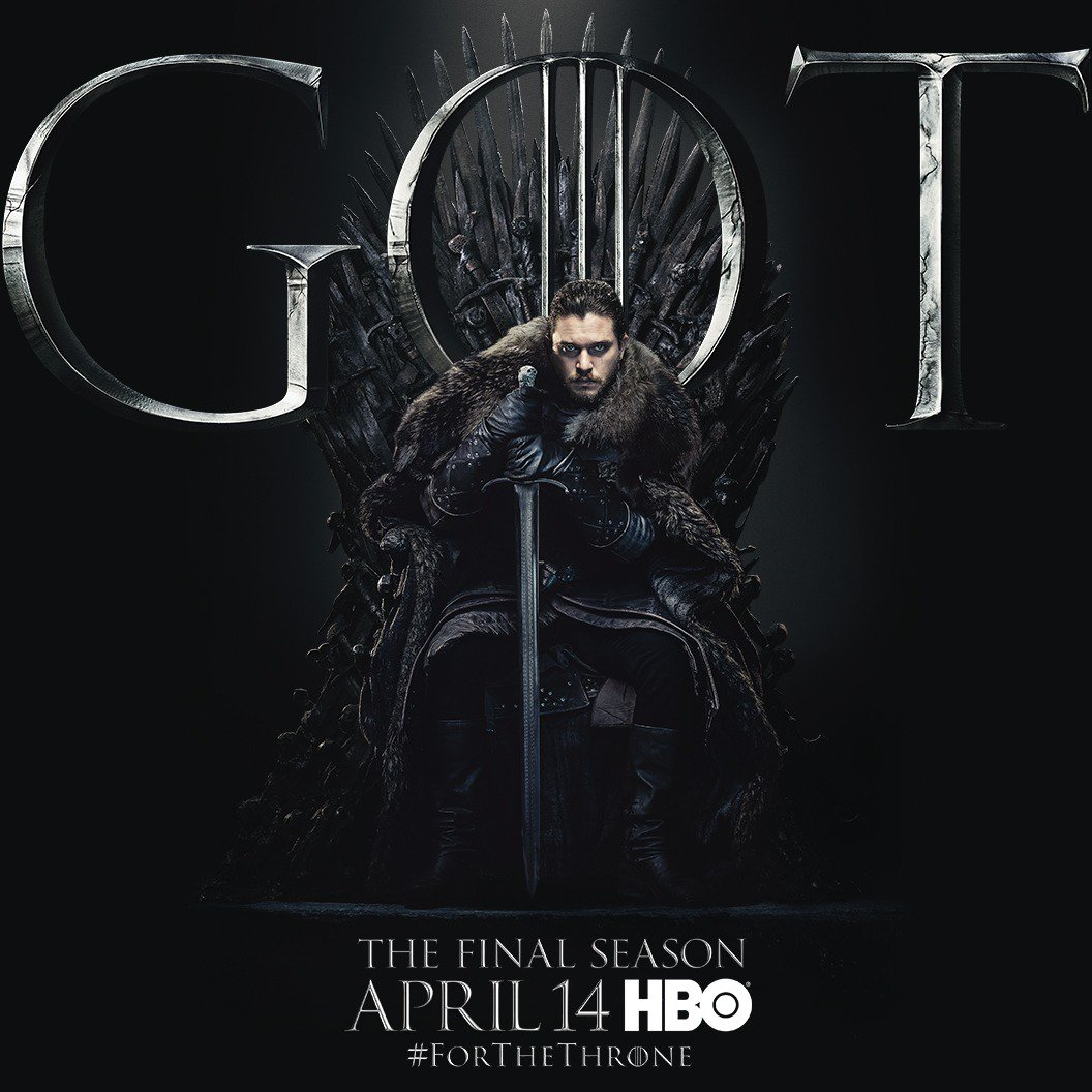 #ForTheThrone: Jon Snow, The King In The North a.k.a. Kit Harington in the new series of promotional posters released by HBO for Game of Thrones.