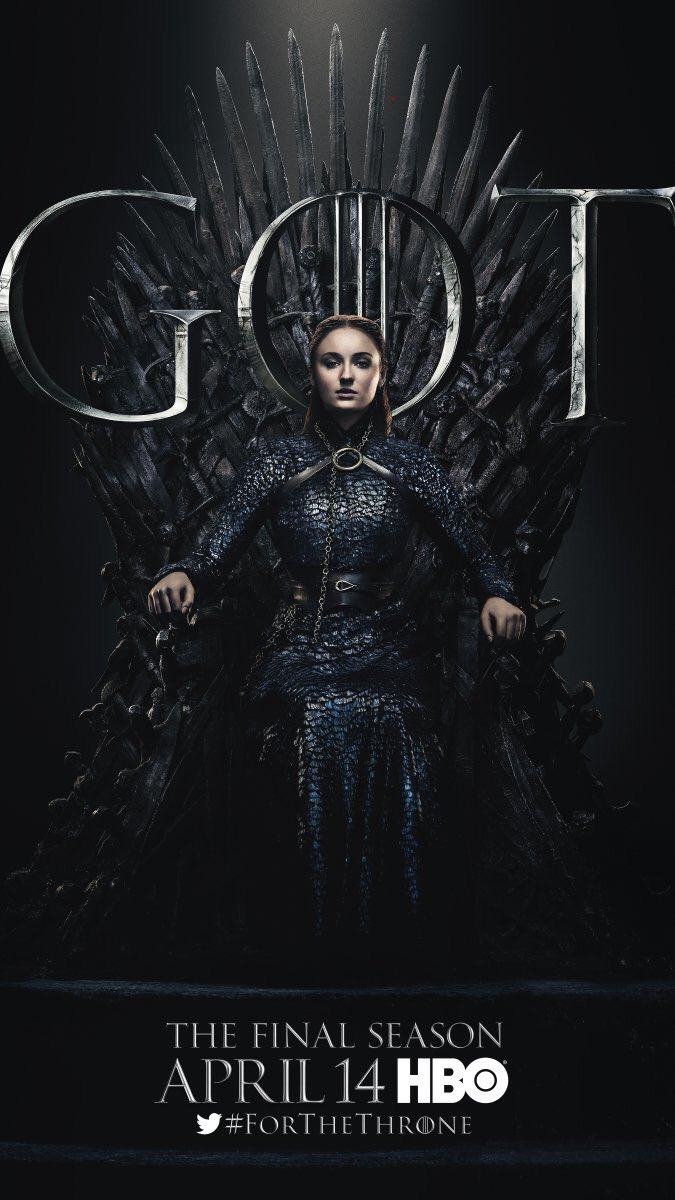 #ForTheThrone: Sansa Stark, Lady of Winterfell, a.k.a. Sophie Turner in the new series of promotional posters released by HBO for Game of Thrones.