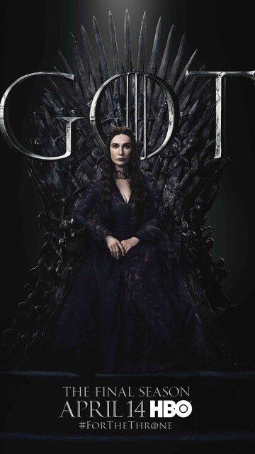 #ForTheThrone: Melisandre, The Red Woman, a.k.a. Carice van Houten in the new series of promotional posters released by HBO for Game of Thrones.