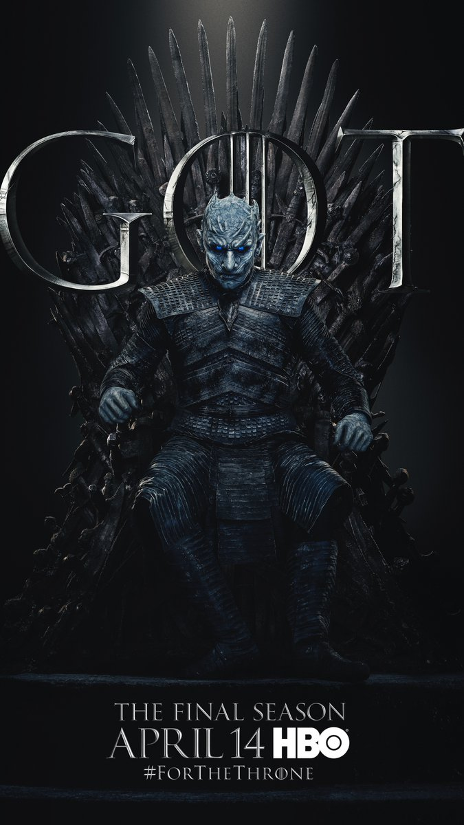 #ForTheThrone: The Night King, a.k.a. Vladimir Furdik in the new series of promotional posters released by HBO for Game of Thrones.