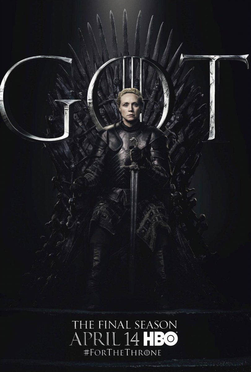 #ForTheThrone: Brienne of Tarth, a.k.a. Gwendoline Christie in the new series of promotional posters released by HBO for Game of Thrones.