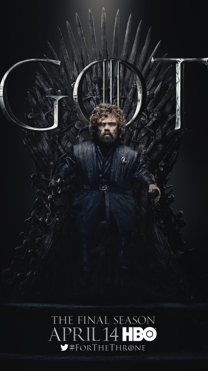 #ForTheThrone: Tyrion Lannister, Hand of the Queen, a.k.a. Peter Dinklage in the new series of promotional posters released by HBO for Game of Thrones.
