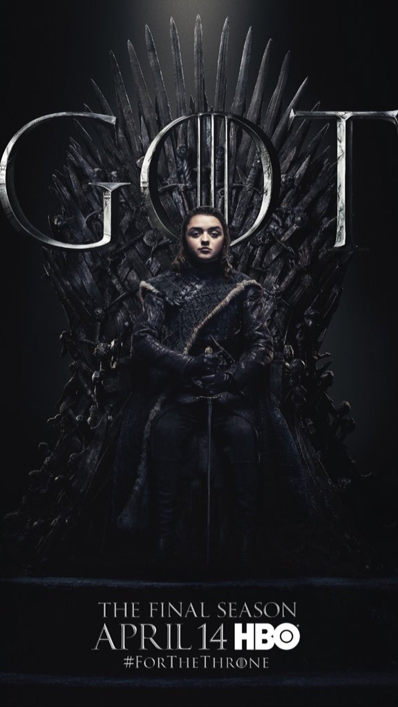#ForTheThrone: Arya Stark, a.k.a. Maisie Williams in the new series of promotional posters released by HBO for Game of Thrones.
