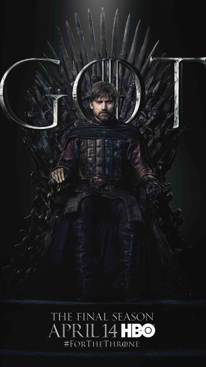 #ForTheThrone: Jamie Lannister, a.k.a. Nikolaj Coster-Waldau in the new series of promotional posters released by HBO for Game of Thrones.
