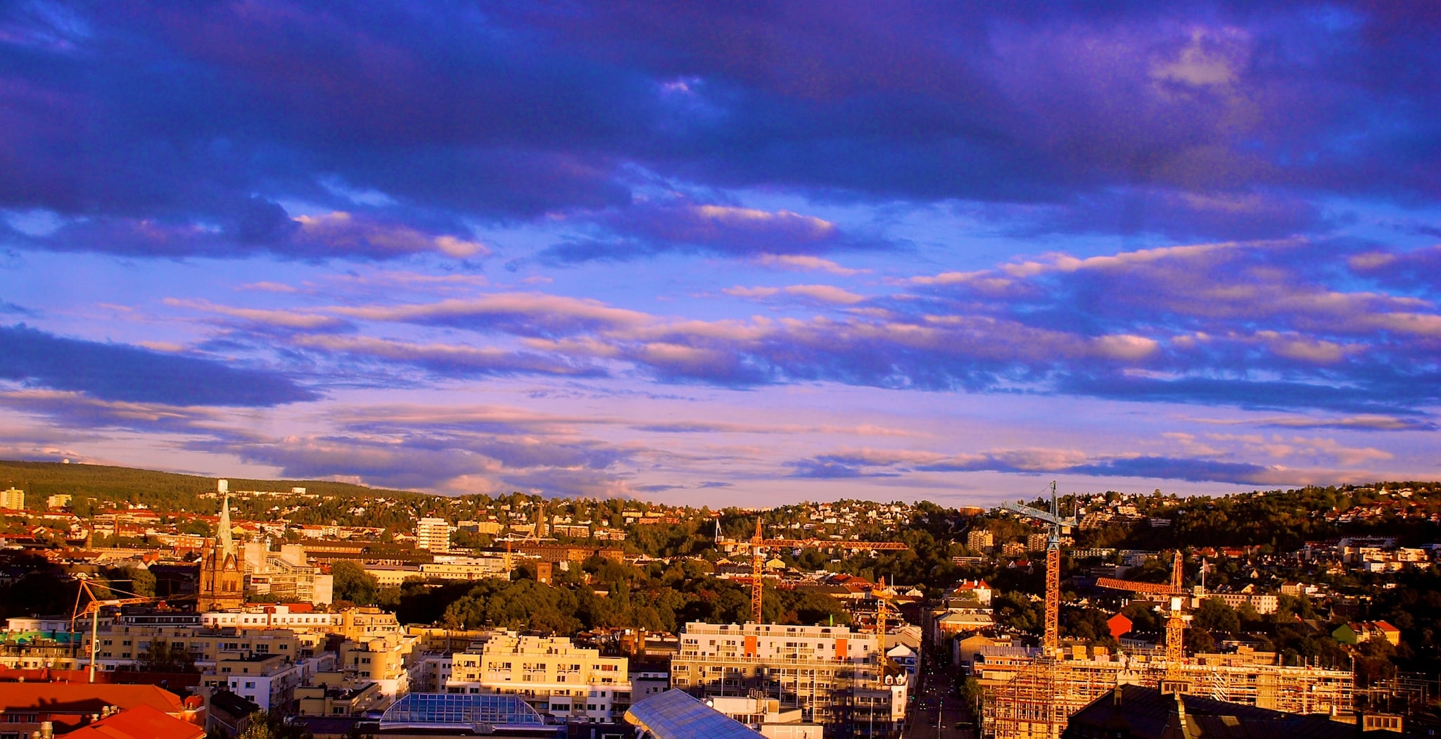 Oslo has been the capital of Norway since 1814 and occupies 454 sq km, 242 of which are forests.
